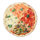 Pizza four seasons Royalty Free Stock Photography