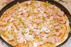 Pizza från Italien Arkivbild