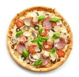 Pizza frais cuite au four Photos libres de droits