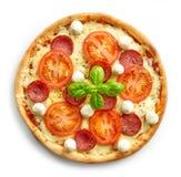 Pizza frais cuite au four Images libres de droits
