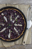Pizza francesa da cebola e da azeitona Foto de Stock Royalty Free