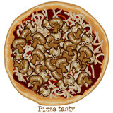 Pizza, freehand drawing Stock Photography