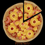 Pizza, freehand drawing Royalty Free Stock Images
