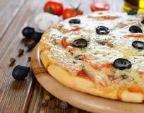 Pizza fresca Imagens de Stock