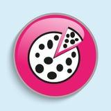 Pizza fresca con un pezzo tagliato Innesta l'icona Immagine condizionale di vettore sotto forma di colore royalty illustrazione gratis