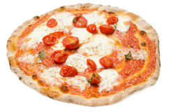 Pizza with fresh tomatoes Royalty Free Stock Photos