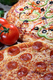 Pizza with fresh toppings royalty free stock image
