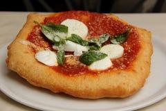 Pizza fritada fotografia de stock royalty free