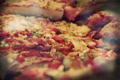 Pizza från Barcelona Fotografering för Bildbyråer