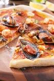Pizza Frutti Di Mare Royalty Free Stock Image