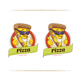 Pizza Funny Character Royalty Free Stock Photo
