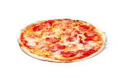 Pizza in geïsoleerde doos Royalty-vrije Stock Fotografie