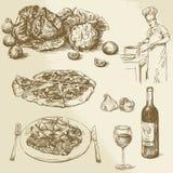 Pizza, Gemüse Lizenzfreie Stockfotos