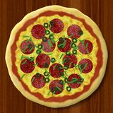 Pizza generated texture background Stock Photo
