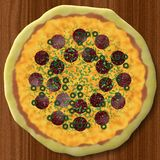 Pizza generated texture background Stock Images