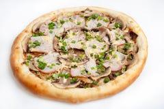 Pizza, generi differenti di pizze al menu del ristorante e pizzeria Immagini Stock Libere da Diritti