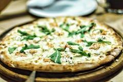 Pizza, geschmackvoll, Lebensmittel, Lachs, köstlich, Abendessen, Mittagessen, Teig, aru lizenzfreie stockbilder