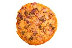 Pizza getrennt Lizenzfreies Stockbild