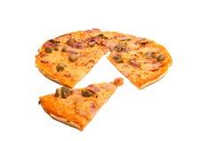 Pizza getrennt Stockbild