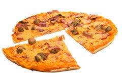 Pizza getrennt Stockbilder