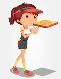 Pizza girl Stock Photography