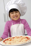 Pizza girl. Stock Photography
