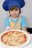 Pizza girl. Stock Photos