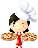 Pizza girl Stock Image