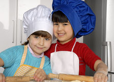 Pizza girls. Royalty Free Stock Images