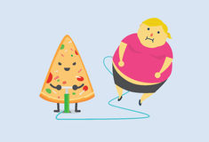 Pizza gjorde dig fett snabbt Royaltyfria Foton
