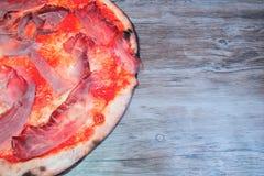 Pizza gorgonzola e macchietta Fotografia Stock Libera da Diritti