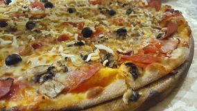 Pizza grande Foto de Stock