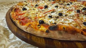 Pizza grande fotografia de stock