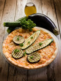 Pizza with grilled zucchinis Royalty Free Stock Photos