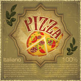 Pizza on grunge Background Stock Photography