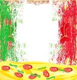 Pizza grunge background design Stock Images