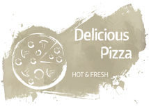 Pizza grunge banner Stock Photo