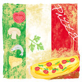 Pizza grunge poster Royalty Free Stock Photography