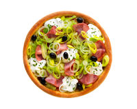 Pizza with ham Royalty Free Stock Photos
