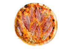 Pizza ham and cheese Royalty Free Stock Image