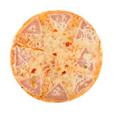 Pizza with ham, cheese, pepper Royalty Free Stock Images