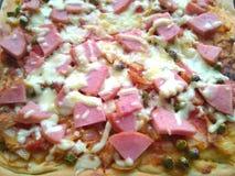 Pizza with ham Stock Photos