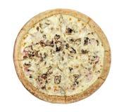 Pizza ham with mushrooms Stock Photo