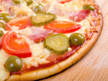 Pizza ham and vegetable Stock Image