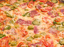 Pizza ham and vegetable Royalty Free Stock Photos