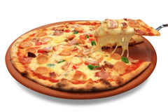 Pizza hawaiana Immagine Stock