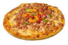 Pizza hawaiana Immagine Stock Libera da Diritti