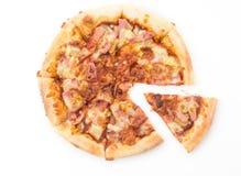 Pizza hawaiana Fotografie Stock Libere da Diritti