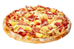 Pizza hawaiana italiana aislada conjunto Foto de archivo libre de regalías
