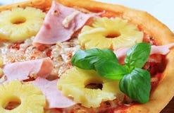 Pizza Hawaii Royaltyfria Foton
